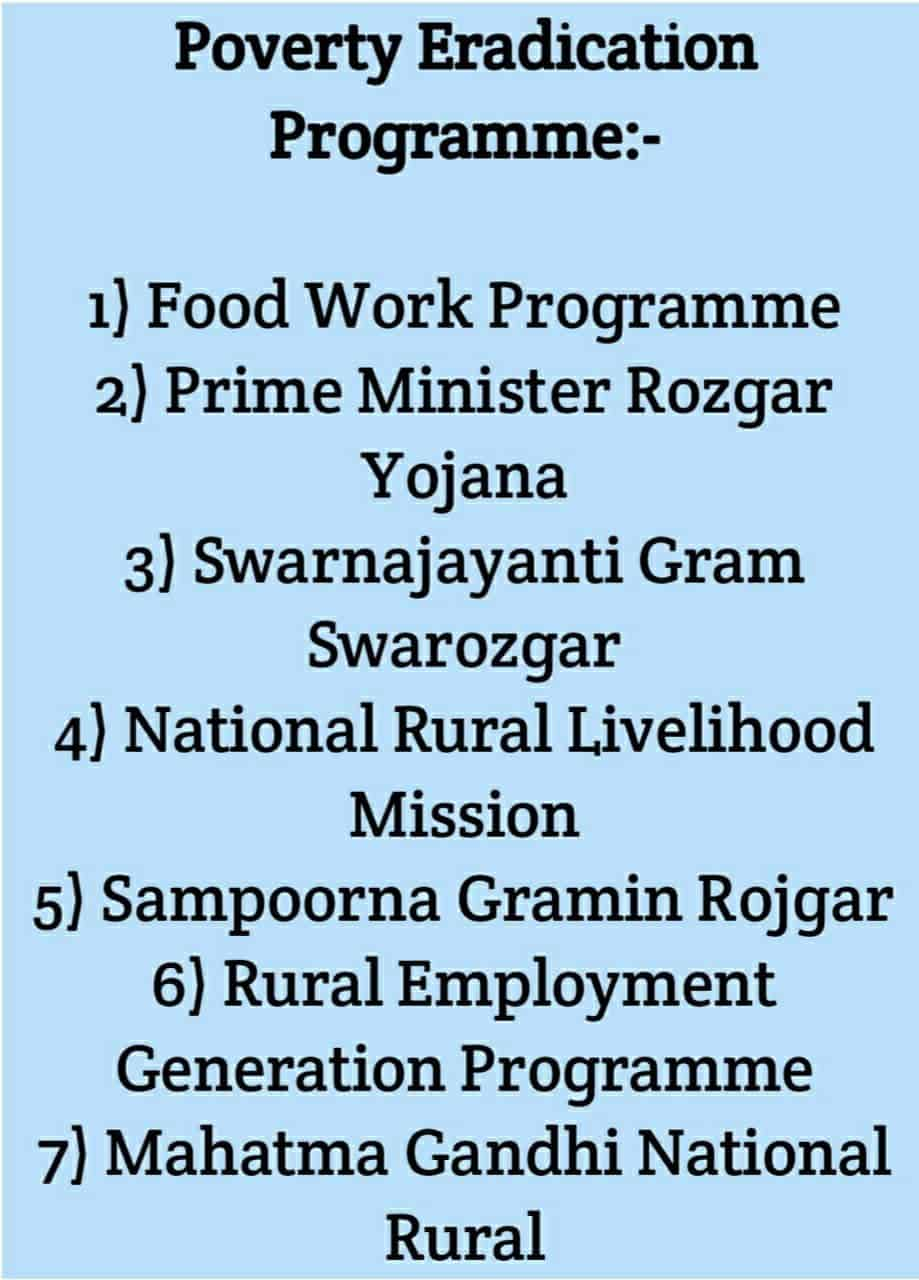 Poverty eradication programme in India