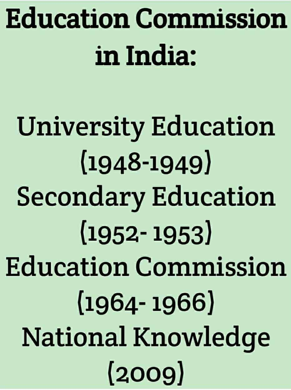 Education commission in India